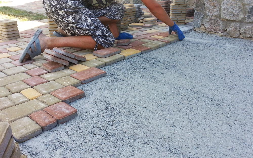 смесь для укладки тротуарной плитки на бетонное